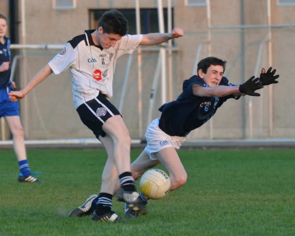 Action from the Grade 3B Minor league game between St. Enda's Devs and Cappagh in Ballinamullan on Tuesday evening.
