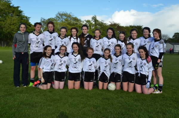 St. Enda's U14 girls team which lost to Strabane in the championship